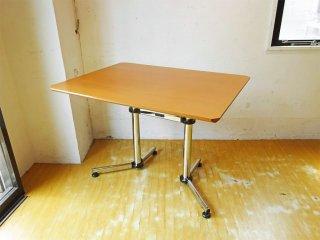 ユーエスエムハラー USM Haller キトステーブル KITOS デスク 長方形 メープル材天板 W99.5cm オフィス家具 フリッツ・ハラー スイス ★