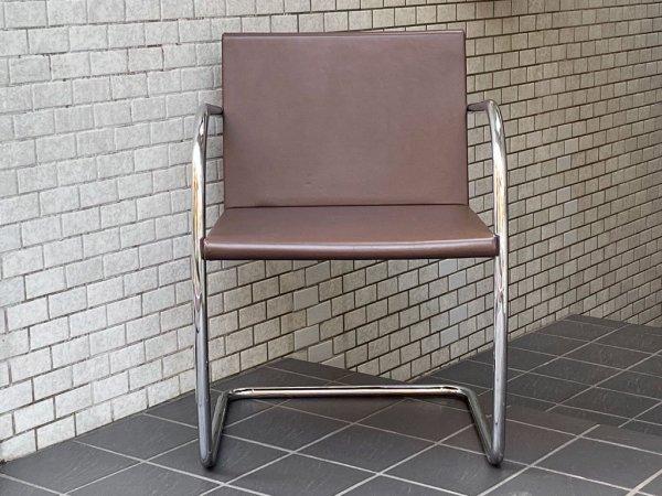 ノル Knoll ミースファンデルローエコレクション Mies van der Rohe Collection ブルーノ アームチェア チューブラー Brno Arm Chair ■