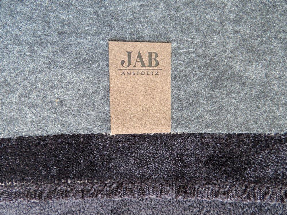 ジャブ JAB ANSTOETZ ドイツ 高級 カットパイル ラグ 400×250 モノトーン ライトグレー×グレー×ブラック 3色 未使用 ●