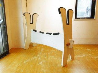 RHCロンハーマン RHC Ron Herman × Wooden Toy 木製 サーフボード ラック ボードスタンド シャビーシック ホワイト ★