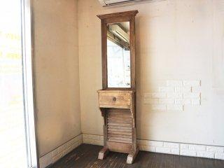 オールドメゾン old maison 取扱い スタンドドロワー ミラー ヴィンテージ 鏡 古材 姿見 ◎