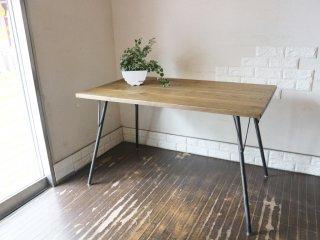 ジャーナルスタンダードファニチャー journal standard Furniture サンク SENS  ダイニングテーブル Sサイズ オーク無垢材 インダストリアルデザイン ◎