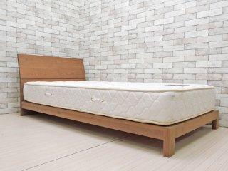 マスターウォール MASTERWAL レヴィ ベッド LEVY BED シングルサイズ ウォールナット 現行品 LVBD-S シーリー社 Sealy マットレス付き 総額¥251,200- A ●