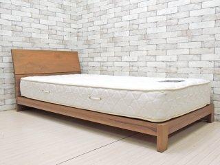 マスターウォール MASTERWAL レヴィ ベッド LEVY BED シングルサイズ ウォールナット 現行品 LVBD-S シーリー社 Sealy マットレス付き 総額¥251,200- B ●