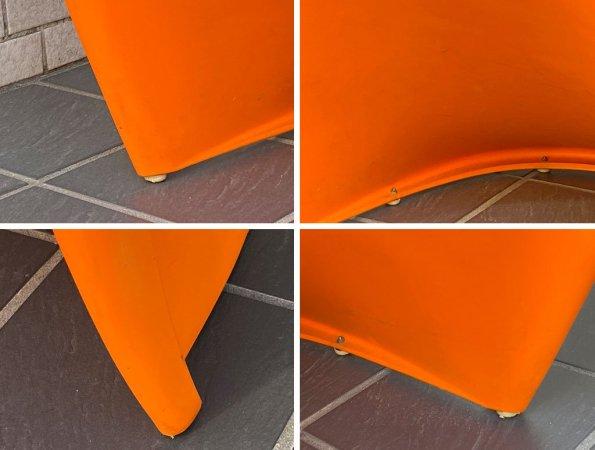 ヴィトラ vitra パントンチェア Panton Chair オレンジ ヴェルナー・パントン Panton スタッキングチェア スペースエイジ ミッドセンチュリー ■