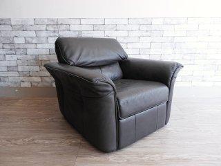 フクラ HUKLA ハモンド HAMMOND 1P Reclining Sofa 1人掛け リクライニングソファ 本革( セミアニリン牛革 ) 定価¥326,700- 現行モデル ラウンジチェア ●