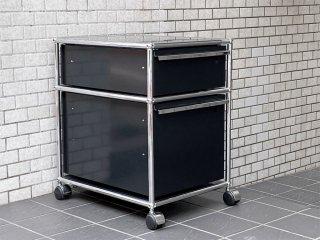 USMエムハラー USM Haller モジュラーファニチャー Modular Furniture ハラーシステム ロールボーイ デスクワゴン グラファイトブラック ■