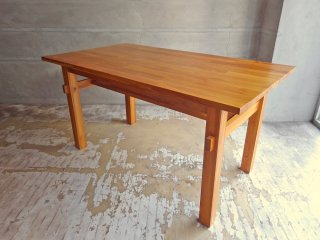 ウニコ unico ブレス BREATH ダイニングテーブル チーク無垢材 W140cm 廃番 北欧スタイル♪