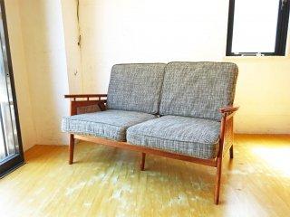 アクメファニチャー ACME Furniture ウィッカー 2シーターソファ WICKER SOFA ウッド×ラタン 西海岸スタイル 定価\129,800 ★