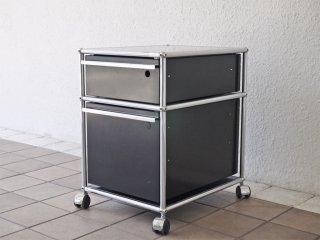 USMエムハラー USM Haller モジュラーファニチャー Modular Furniture ハラーシステム ロールボーイ デスクワゴン グラファイトブラック ◇