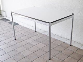 USMモジュラーファニチャー USMハラー USM Haller ワーキングテーブル カンファレンステーブル ダイニングテーブル 幅125cm ホワイトラミネート天板 ◇