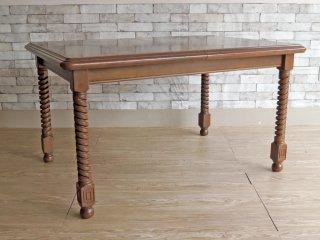 オールドマルニ マルニ木工 maruni ツイストレッグ EX ダイニングテーブル 伸長式 クラシカル ヨーロピアンスタイル w130-183 ●