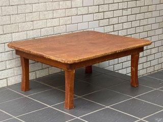 ジャパンビンテージ 昭和レトロ 木味 ちゃぶ台 卓袱台 ローテーブル 和家具 古家具 ■