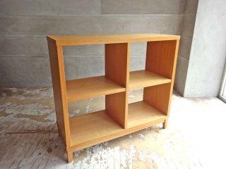 無印良品 MUJI タモ材 木製オープンシェルフ オープンラック 2×2 ナチュラルウッド 廃番 ♪