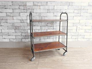 ジャーナルスタンダードファニチャー journal standard Furniture ジェントカート GENT CART QUATRE サイドワゴン 3段 キャスター付 インダストリアル ●