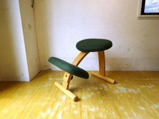 リボ Rybo バランスイージー Blance easy 学習椅子 グリーン系 ミックスファブリック ノルウェー 良品 ★