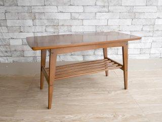 カリモク60 karimoku リビングテーブル Sサイズ ウォールナットカラー ムテニエ天板 ミッドセンチュリー ●