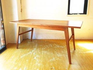 グリニッチ greeniche ワークテーブル Work table 160cm ウォールナット無垢材 ダイニングテーブル オイル仕上げ 定価17万円 ★