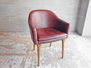 トラックファニチャー TRUCK Furnitre BT チェア BT Chair レザー Leather 楢無垢材レッグ オーク材 定価15.7万円 ♪