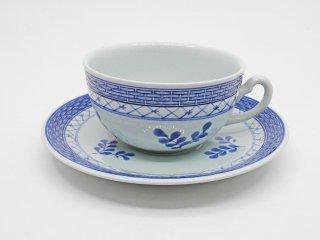 ロイヤルコペンハーゲン ROYAL COPENHAGEN トランクェーバー Tranquebar ブルー Blue ティーカップ&ソーサー 北欧食器 ●