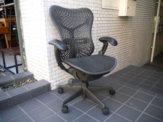 ハーマンミラー Herman Miller ミラチェア Mirra Chair スタジオ7.5 ブラック×グラファイトカラー ■