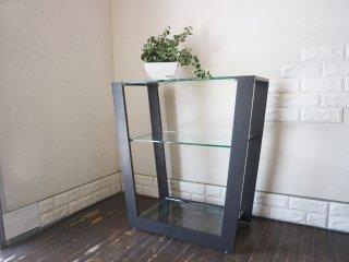 アルテジャパン ARTE JAPAN EM(MT) -004 コンソールテーブル ガラス 2段 ガラステーブル ディスプレイラック モダンデザイン 本体価格\110,770- ◎