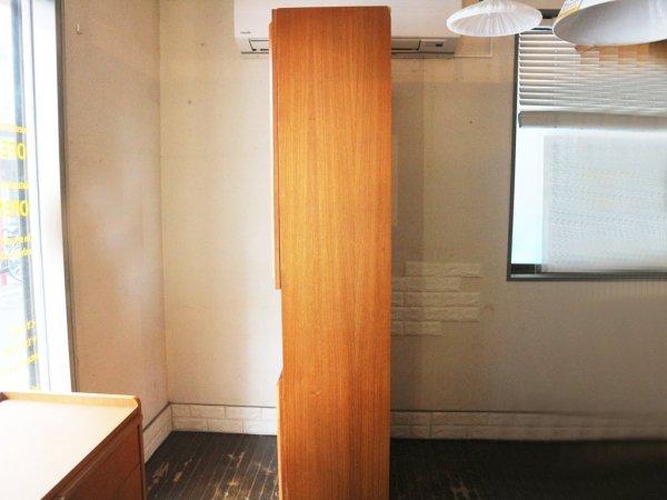 ヴィンテージ チーク材 カップボード 2枚扉 食器棚 北欧 スタイル ◎