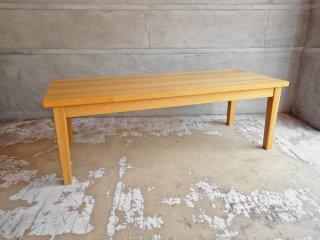 無印良品 MUJI タモ 無垢材 センターテーブル ローテーブル ナチュラル W120 ♪