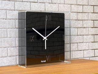 カルテル Kartell ティックタック Tic&Tac ウォールクロック フィリップ・スタルク ブラック アクリル 壁掛け時計 イタリア ■