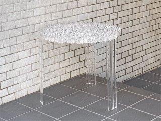 カルテル Kartell ティーテーブル T-TABLE サイドテーブル ハイタイプ クリスタル パトリシア・ウルキオラ イタリア ■