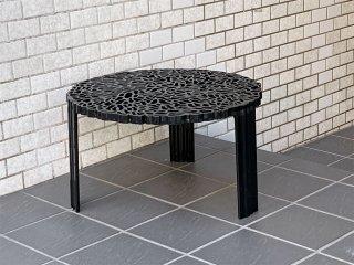 カルテル Kartell ティーテーブル T-TABLE サイドテーブル ロータイプ ブラック パトリシア・ウルキオラ イタリア ■
