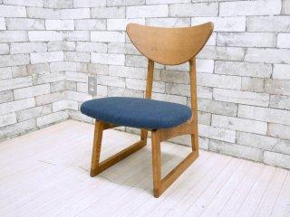 スウィッチ SWITCH ラガーチェア Lager Chair 中座椅子 ローチェア ブナ材 オーク材 ヘリンボーンファブリック ネイビー 現行 北欧テイスト 定価¥24,200- ●