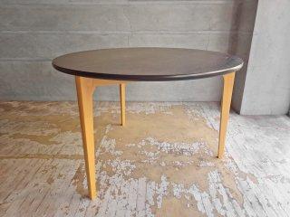 イデー IDEE ダイニングテーブル DCブラウン DINING TABLE DC Brown ラウンド タモ材天板 3本脚 長大作 定価:151,800円 ♪
