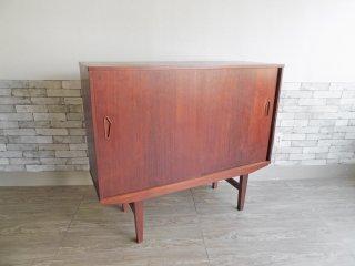 北欧ビンテージ Scandinavian Vintage チーク材 サイドボード キャビネット W128cm 北欧家具 ●