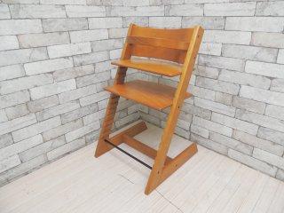ストッケ STOKKE トリップトラップ TRIPP TRAPP 旧型 ベビーチェア キッズチェア チェリー 木製ガード付 ノルウェー 北欧家具 ●