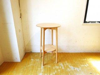 匠工芸 TAKUMI マッシュルーム テーブル ハイテーブル アッシュ材 バーテーブル クラフト 旭川家具 高さ85cm ★