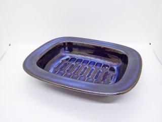スーホルム SOHOLM 角皿 スクエアプレート キャセロール No.3334 エイナー・ヨハンセン デンマーク ビンテージ 北欧陶器 B ♪