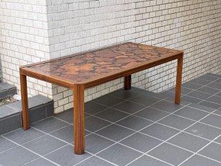 ジャパンビンテージ Japan Vintage ローズウッド バール杢 コーヒーテーブル センターテーブル 銘木 ■
