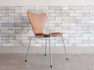 フリッツハンセン Fritz Hansen  1967年製 ビンテージ セブンチェア チーク材 アルネ ヤコブセン Arne Jacobsen 北欧 デンマーク ●