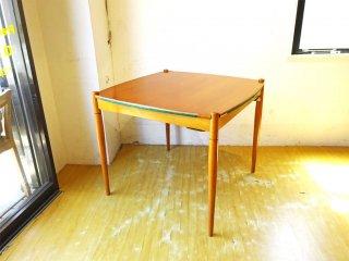 イギリスビンテージ UK Vintage リバーシブル ダイニングテーブル アフロモシア×グリーンフェルト天板 ★