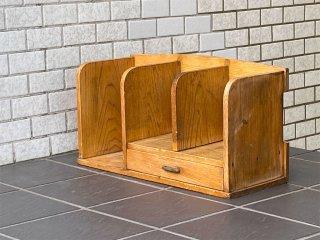 ジャパンビンテージ 木味 ブックスタンド 本棚 本立て 卓上 昭和レトロ 古民家 日本家具 ■