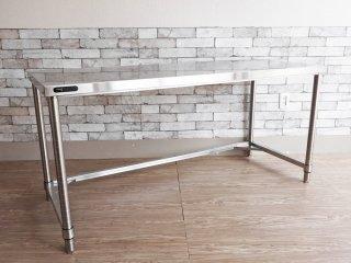 アートスタイルマーケット ART STYLE MARKET MONOシリーズ COM-AJ ワークテーブル デスク 作業台 w150 ステンレス 定価¥48,900- B ●