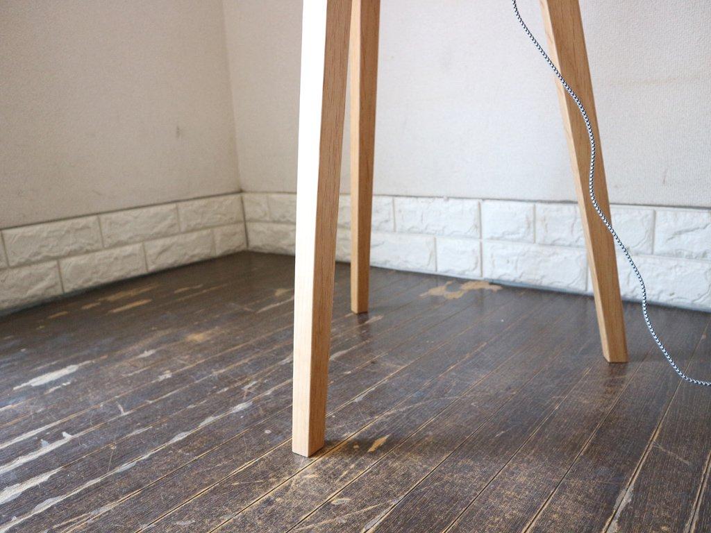 アートワークスタジオ ART WORK STUDIO エスプレッソ Espresso フロアライト フロアランプ バーチ材 ホワイト 定価39,600円 ◎