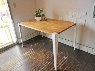 インプション imption Remake ワーキングテーブル ダイニングテーブル 幅127 オーク無垢材 フロイドレッグ Floyd Leg クランプ式  ◎