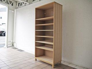無印良品 MUJI タモ材 組み合わせて使える木製収納 ミドルタイプ H175.5cm 棚板6枚 ブックシェルフ 廃番品 ◇