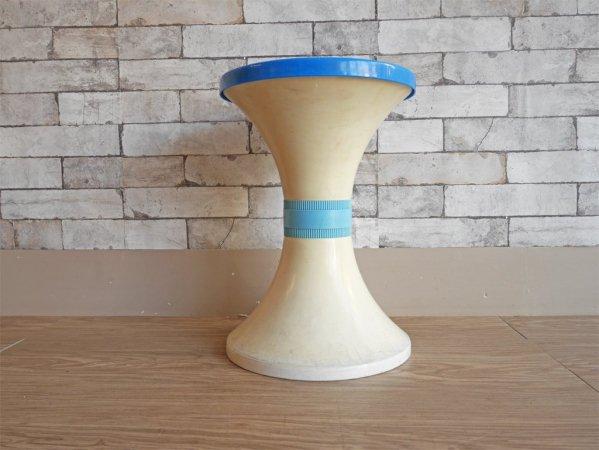 ジャパンヴィンテージ スツール サイドテーブル 花台 プラスチック レトロポップ 昭和レトロ ●
