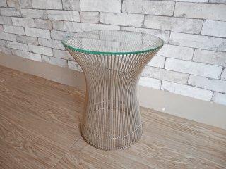 ノル Knoll プラットナーサイドテーブル Platner Side Table ガラス天板 ウォーレン・プラットナー モダンデザイン ヴィンテージ ●