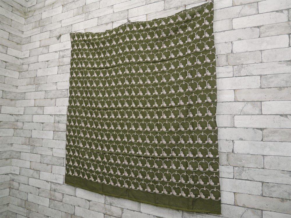 ミナペルホネン mina perhonen メーラ Mela カーキ 110×110 ファブリック ハギレ生地 皆川明 ●