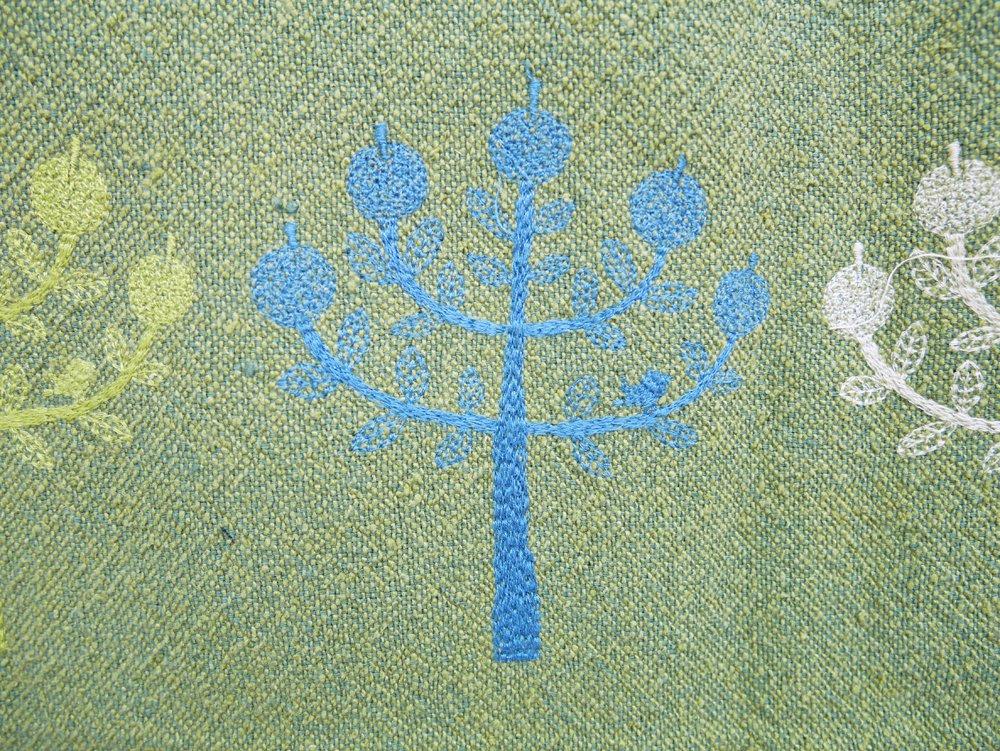 ミナペルホネン mina perhonen リンゴ Ringo カーキ 100×130 ファブリック ハギレ生地 皆川明 ●