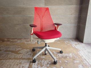 ハーマンミラー Herman Miller セイルチェア SAYL Chair デスクチェア イヴ・ベアール レッドサスペンション 定価¥112,200- ♪